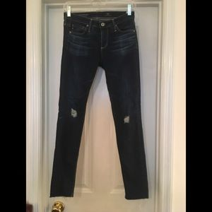 🌿AG Distressed Super Skinny Ankle Jeans 25R